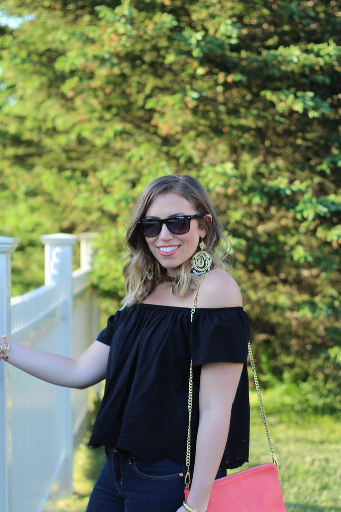 Off Shoulder Peasant Top | Casual Summer Outfit