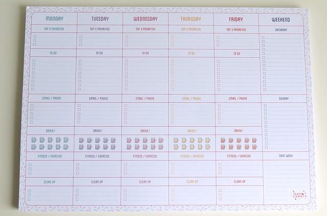 Weekplanner Team Confetti