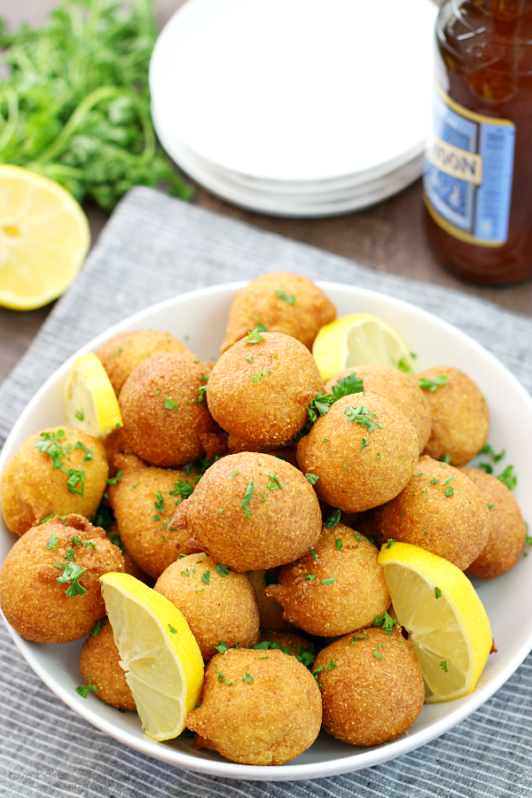 Classic Hushpuppies are the perfect accompaniment to your fish fry! They come together quickly - and disappear just as fast! Everyone loves them so much that you might want to double the batch!