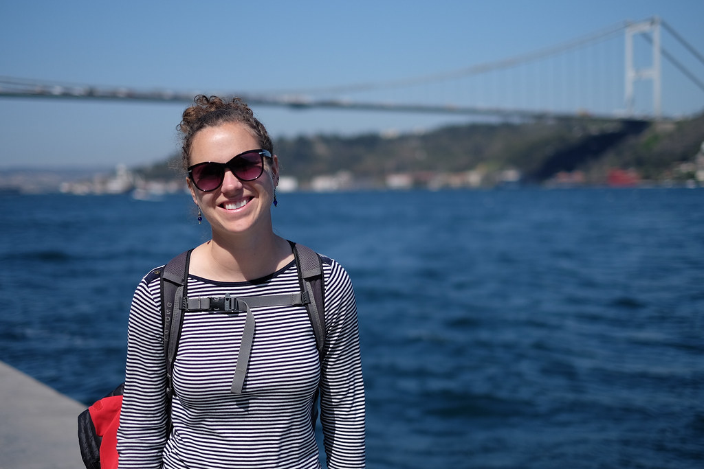 We had a 12 hour layover in Istanbul so we took a taxi into the city to visit Bethany's sister. Here's Rachael on the European side of the Bosphorus. Asia is in the background.