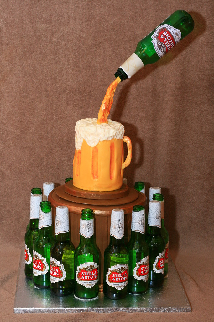 Birthday Cake Beer Bottle
