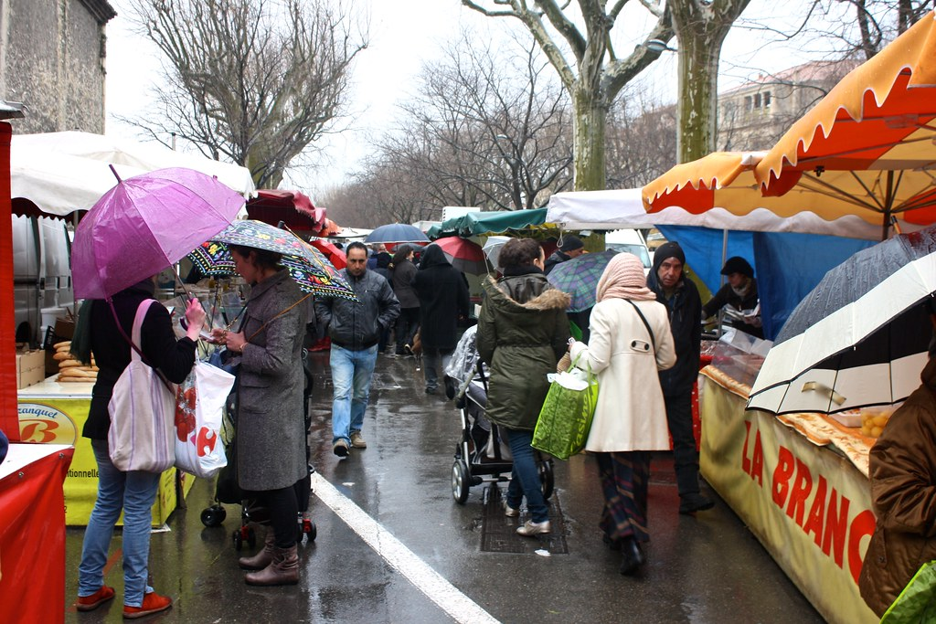 Saturday morning market, Arles, France