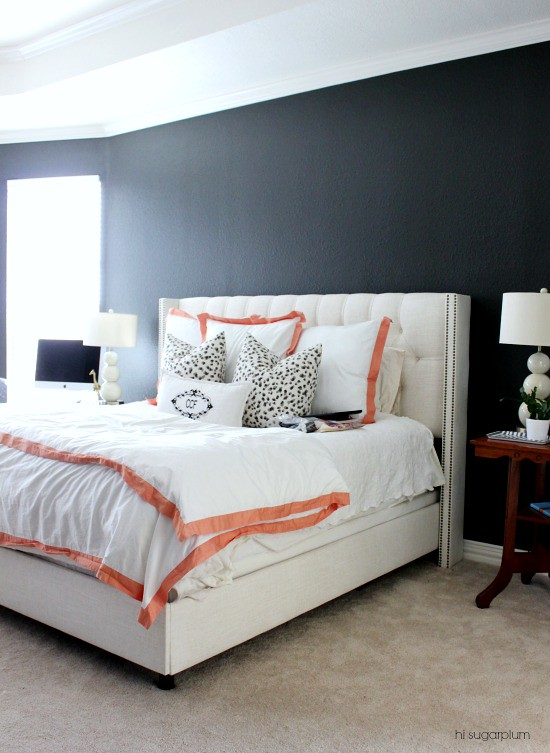 Hi Sugarplum | Master Bedroom Dark Walls