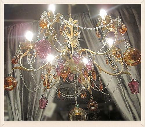 a romantic chandellier