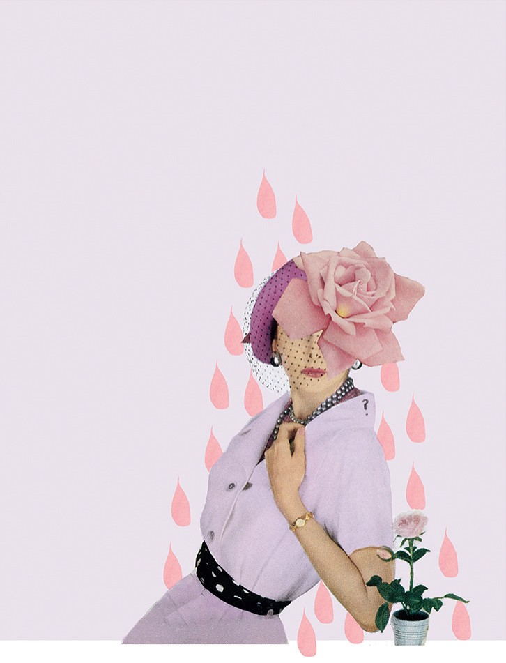shrinking violet collage by laura redburn