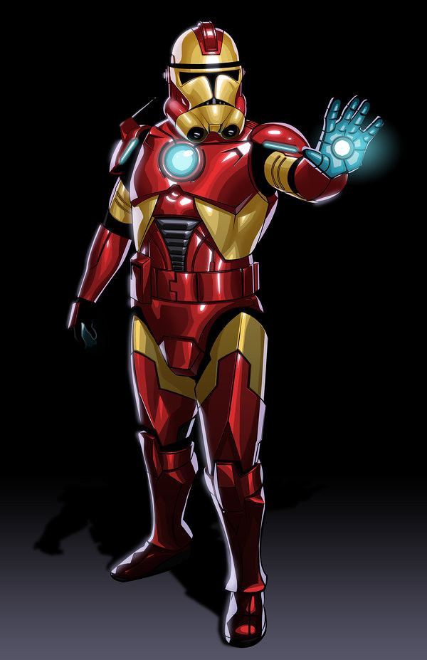 Avengers Clone Troopers Iron Man by JonBolerjack