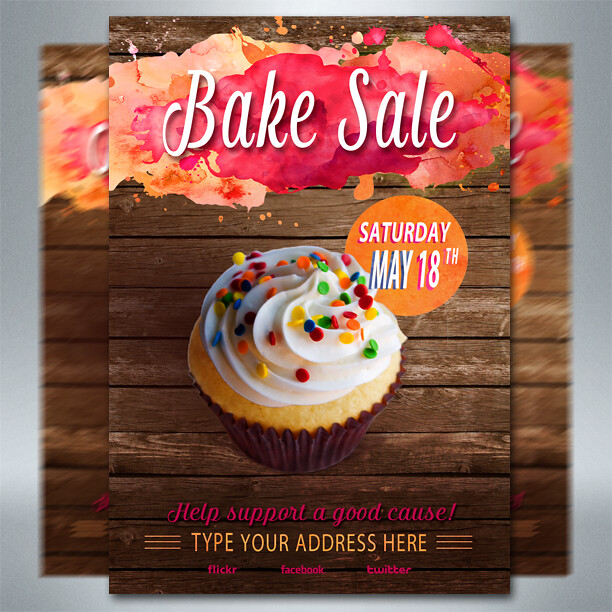 free bake sale flyer