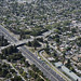 Aerial view of intersection of Highway 101 and Willow Road, Menlo Park and East Palo Alto, California