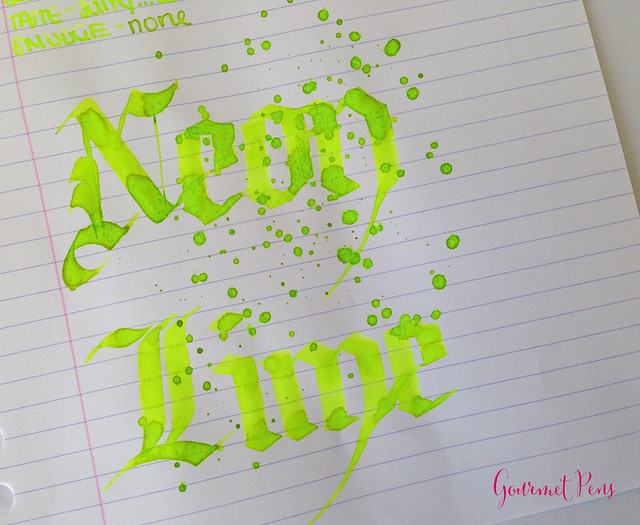 Ink Shot Review Lamy Neon Lime Ink @Fontoplum0 @Lamy (10)