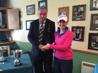 Chrissie Byrne 2015 Leinster Senior Ladies Matchplay Winner