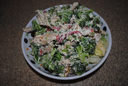 Pasta Salad with Chicken, Broccoli, and Feta (1)