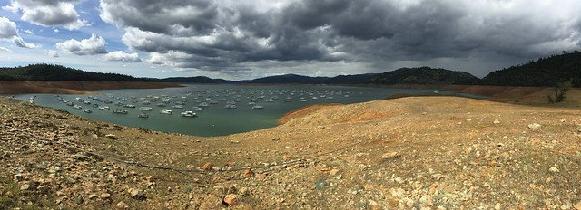 California Drought, Lake Oroville State Recreation Area #clouds #panorama
