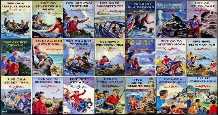 21 Famous Five book covers