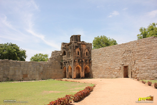 North-East Watch tower in Zenana Enclosure, Hampi, Ballari district, Karnataka, India