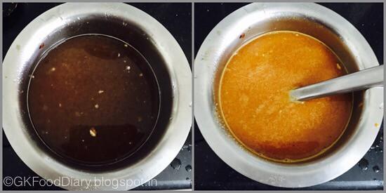 Vendakkai Puli Kuzhambu- preparation step 2