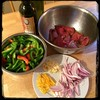 #Peppers and Steak in Red Wine Vinegar - #CucinaDelloZio - ingredients