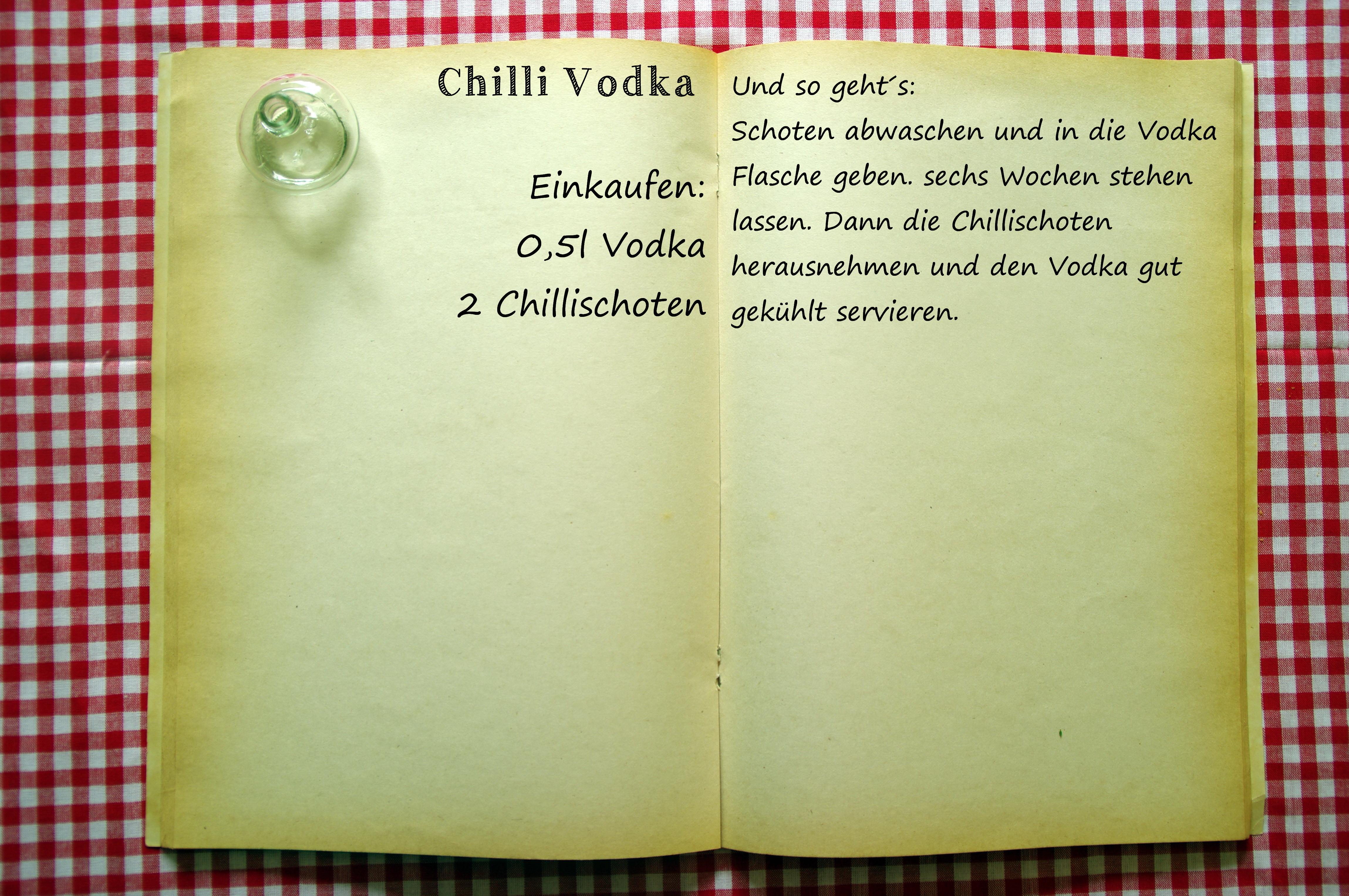 Einkaufszettel Chilli Vodka by Glasgeflüster