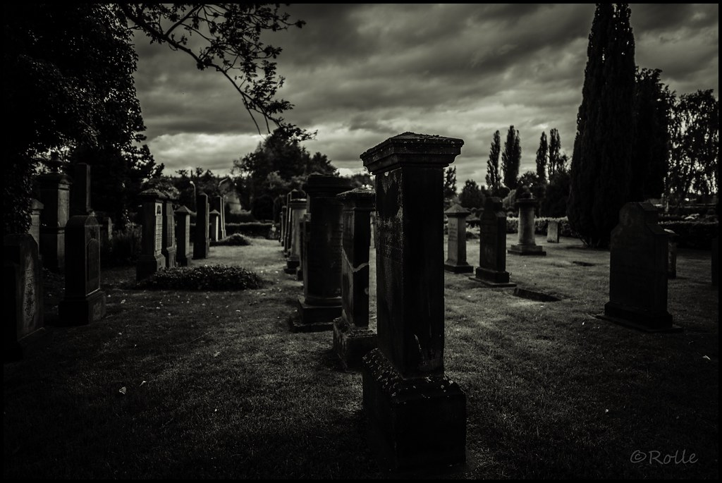 graveyard in the dark