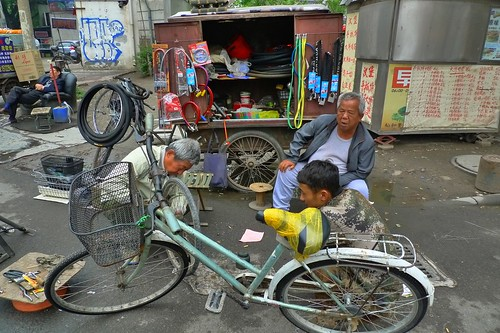 Corner Bicycle Repair - Tianjin, China
