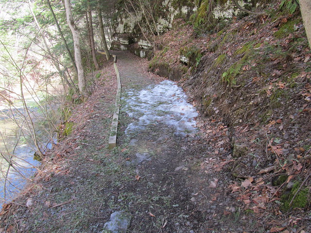 Ice on the trail