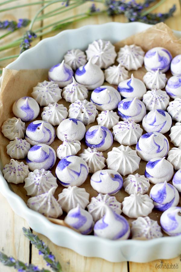 Lavender Meringues - bethcakes.com