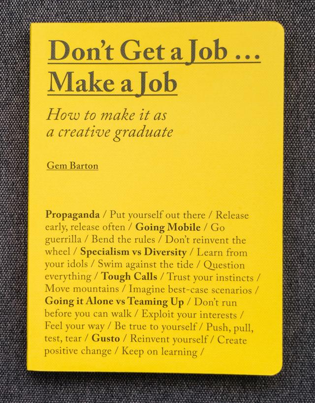 don't get a job... make a job | book review