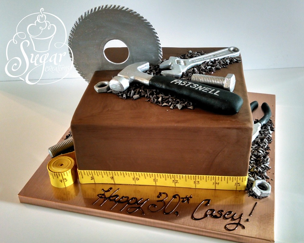 Construction Tools Cake Birthday Cake For A Deck Builder