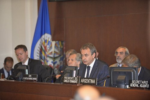 Ex Presidente Zapatero expuso ante Consejo Permanente de la OEA sobre proceso de diálogo en Venezuela