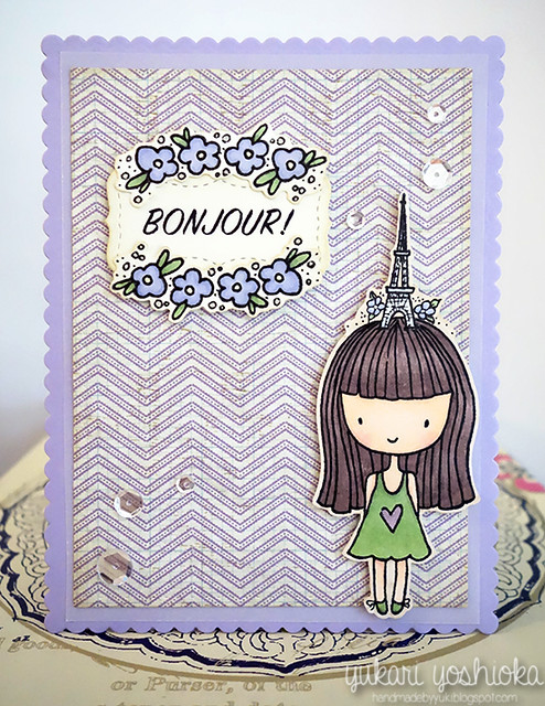 """Bonjour"" Card featuring Neat & Tangled"