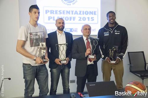 Presentazione playoff & Lega Basket Awards, fontecchio, bologna, buscaglia, mitchell, salvatore trainotti, trento