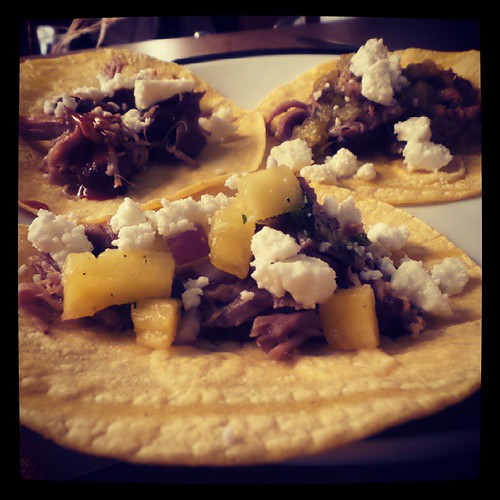 Hooray! It's carnitas taco night at home tonight!