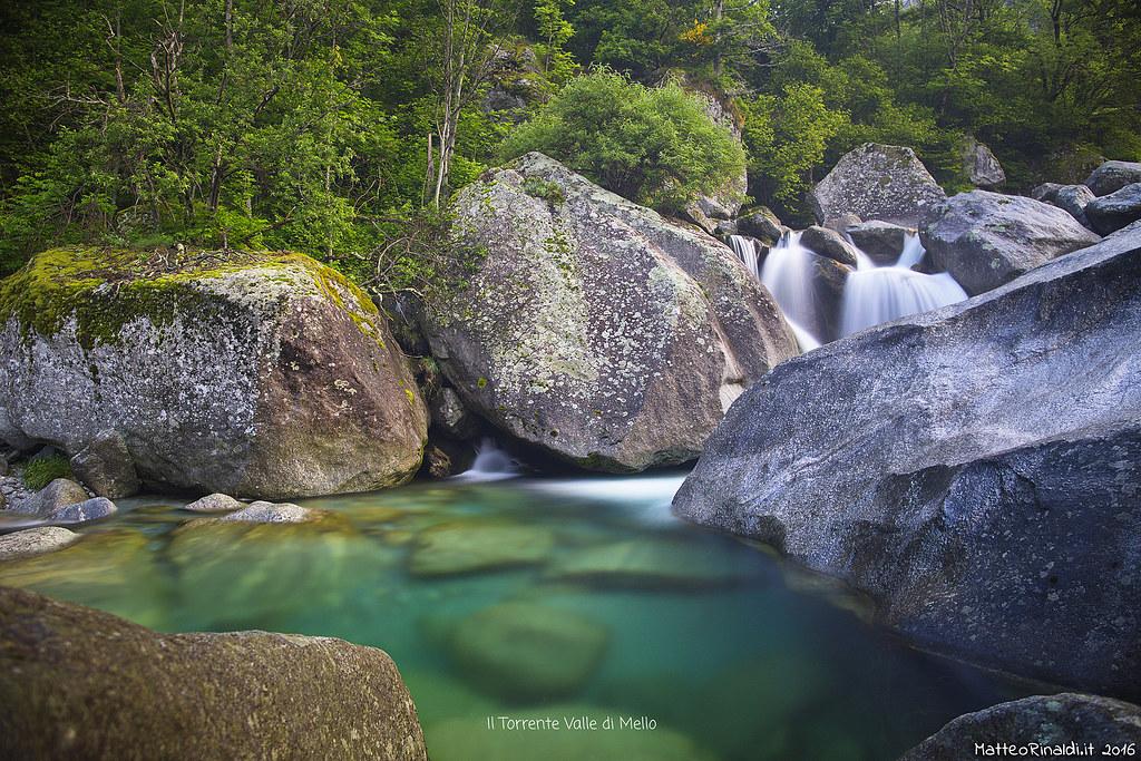 Il torrente valle di Mello