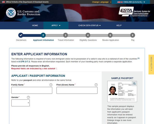 Datos que piden y que la persona demandante del ESTA debe cumplimentar a la hora de solicitar acceso a Estados Unidos