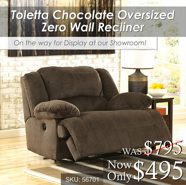 Toletta Chocolate Oversized Recliner OTW