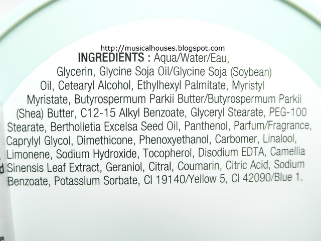 The Body Shop Fuji Green Tea Body Butter Ingredients