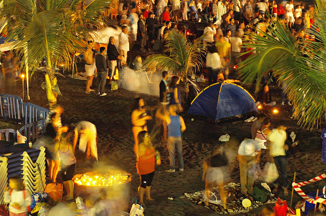Beach party, Noche de San Juan, Puerto de la Cruz, Tenerife