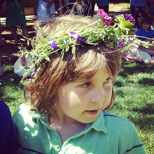 My littlest love at May Day