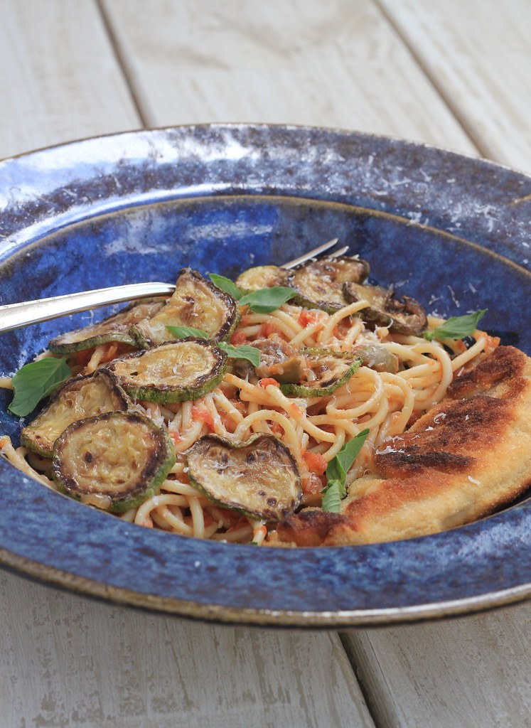 receita espaguete abobrinha peixe empanado