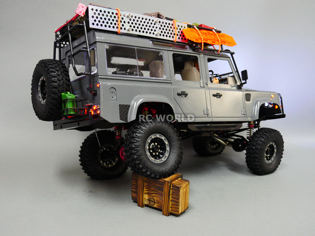 rc 1 10 land rover defender 110 camel trophy 4x4 w winch. Black Bedroom Furniture Sets. Home Design Ideas
