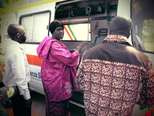 Inspection of the ambulance by the Director of Social  Welfar