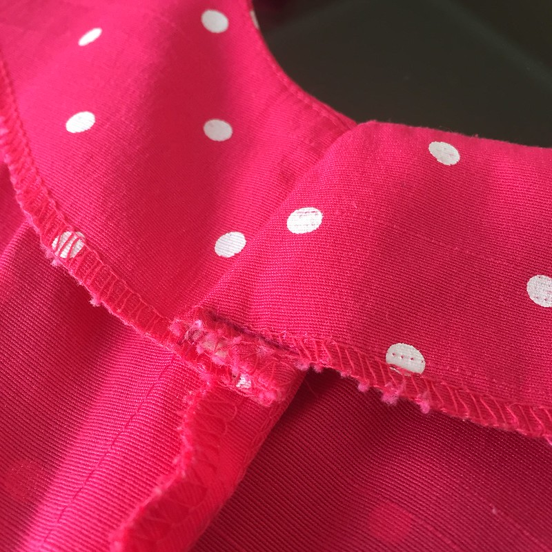 Pink Polka Dot Dress - In Progress
