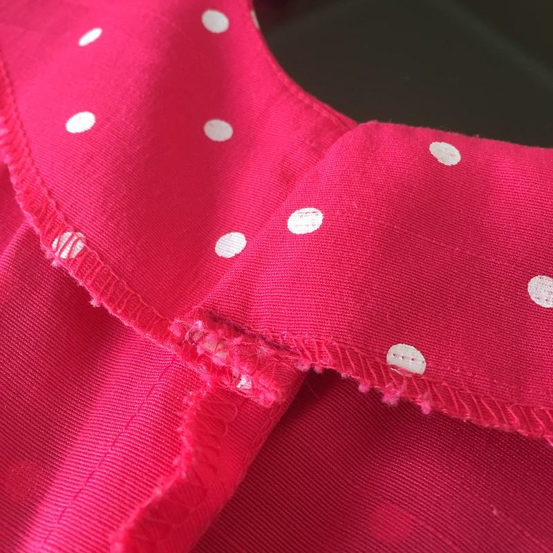 Pink Polka Dot Dress - In Progress