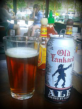 Pabst Old Tankard Ale (in a glass)
