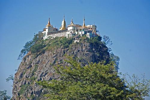 Monastery, Taung Kalat (Mount Popa), Myanmar (Burma)