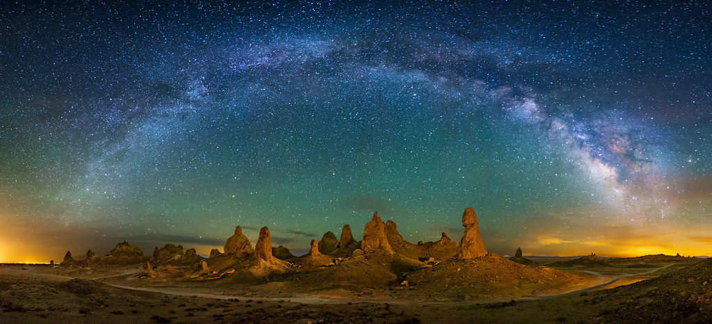 Trona Pinnacles This Is A Panorama Of The Trona