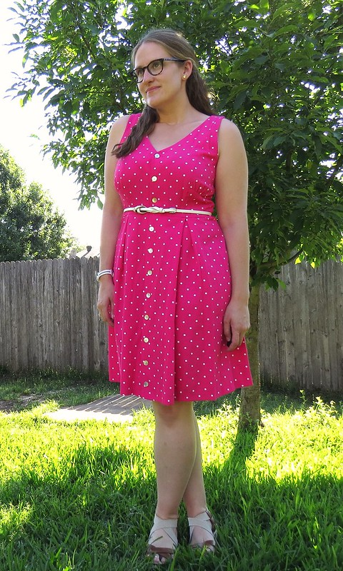 Pink Polka Dot Dress - After