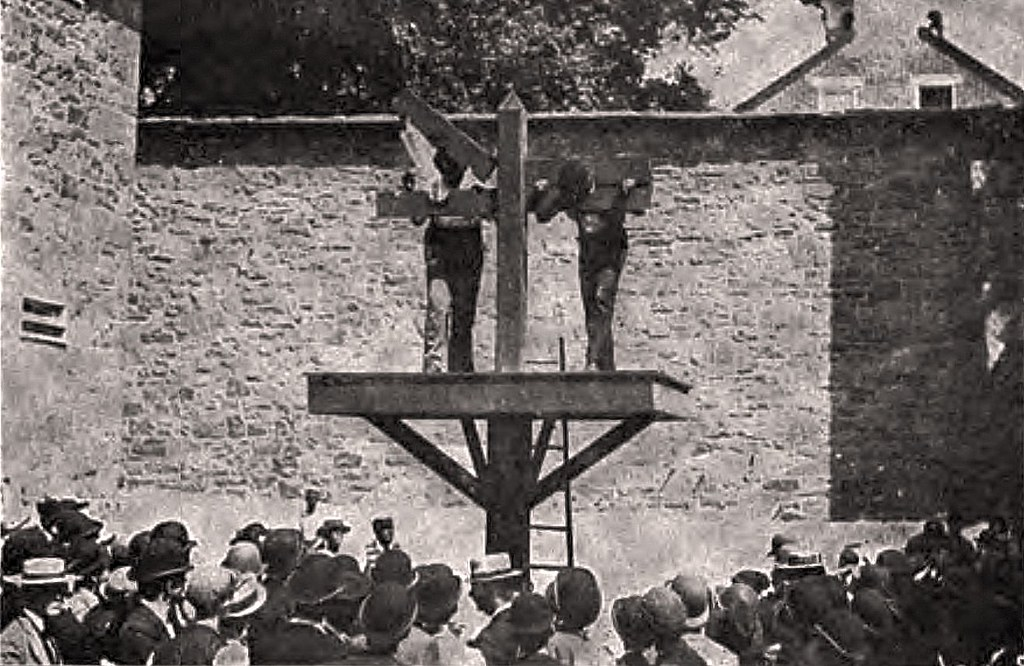 Delaware Prisoners in the stocks waiting to be whipped ...