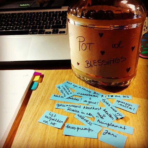 Te veel stress, resulteert in weinig papiertjes voor de #potvolblessings
