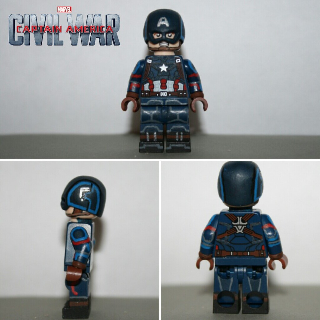Custom lego captain america civil war captain america flickr - Lego capitaine america ...