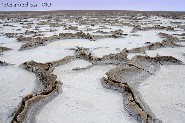 Salt Plain flatlands - Danakil Desert, Ethiopia